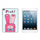 Cute Rabbit Patterned Plastic Back Cover Case for IPAD 1 / 2 / 3 - Pink + Deep Pink