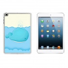 Whale Pattern Protective Plastic Back Case for IPAD MINI 1 / 3 / RETINA IPAD MINI 2 - Blue + White