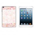 Flower & Lace Pattern Ultra Thin Protective Plastic Back Case for IPAD MINI 1 / 2 / 3 - White + Pink