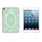 Garland Pattern Ultra Thin Protective Plastic Back Case for IPAD MINI 1 / 2 / 3 - White + Green