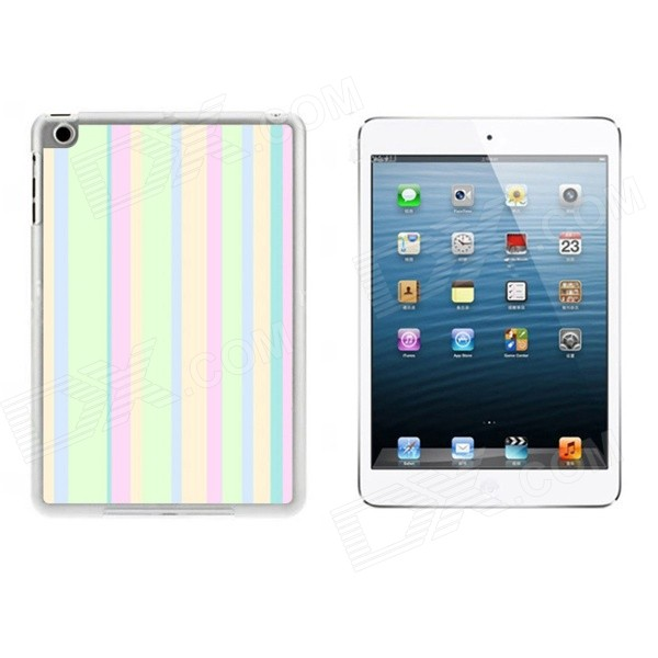 Colorful Stripes Pattern Ultra Thin Protective Plastic Back Case Cover for IPAD MINI 1 / 2 / 3