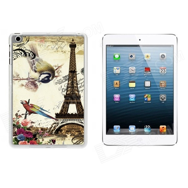 Eiffel Tower & Birds Pattern Ultra Thin Protective Plastic Back Case Cover for IPAD MINI 1 / 2 / 3