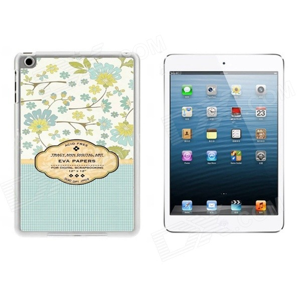 Flowers Pattern Ultra Thin Protective Plastic Back Case Cover for IPAD MINI 1 / 2 / 3 - Multicolored