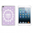 Ultrathin Carousel Pattern Plastic Back Case for IPAD MINI 1 / 3 / Retina IPAD MINI - White + Purple