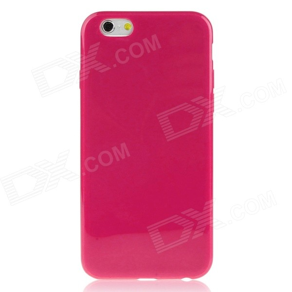 DF-029 Protective Soft TPU Back Cover Case for 4.7 IPHONE 6 - Deep Pink protective tpu case cover for iphone 5 deep pink
