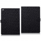 Diamond Pattern Protective PU Flip-Open Case w/ Stand + Card Slots for IPAD AIR 2 - Black