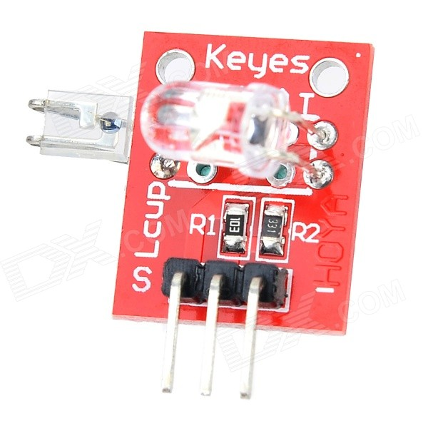 KEYES KY0014 Finger Heartbeat Detection Module for Arduino - Red keyes 5050 rgb led module for offical arduino products red silver