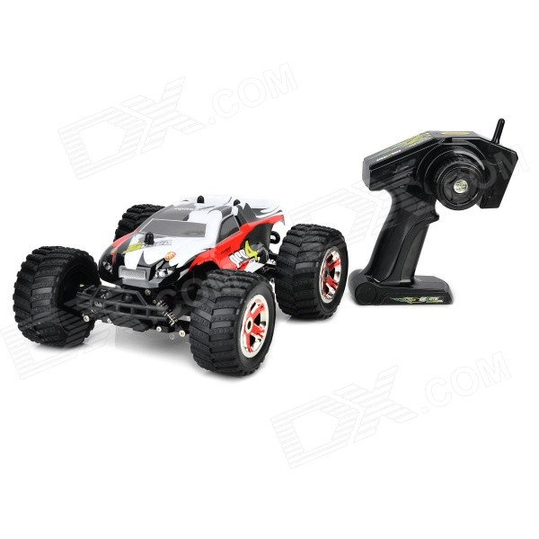 8806G 3-CH 1:14 High-speed Off-Road R/C Car - White + Red + Black