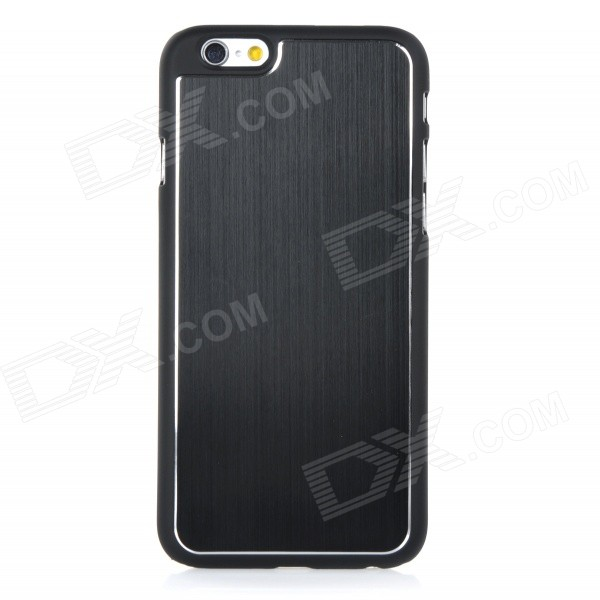 High-Quality Protective PC + Aluminum Alloy Back Case for IPHONE 6 - Black цена и фото