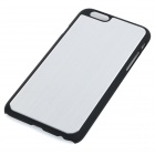 High Quality Protective PC + Aluminum Alloy Back Case for IPHONE 6 - Silver + Black