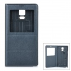 "Protective Flip-Open PU Case Cover w/ View Window for Samsung Galaxy Note 4 5.7"" - Grey"