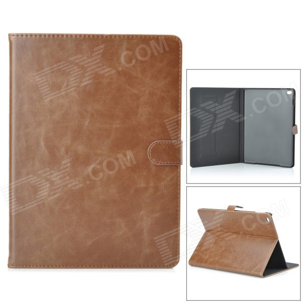 Stylish Protective PU + PC Smart Case w/ Stand for IPAD AIR 2 - Brown enkay jellyfish pattern protective pu leather smart case w stand for ipad air ipad 5 multicolor