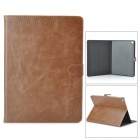 Stylish Protective PU + PC Smart Case w/ Stand for IPAD AIR 2 - Brown