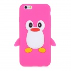 CYF-7001 Cute Penguin Style Protective Silicone Back Case for IPHONE 6 - Deep Pink