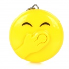 Arrogant Emoticon Style LED White Light Keychain - Yellow + Black (3 x LR41)
