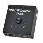HDMI 1 In 2 Out / 2 In 1 Out HD 1080P Switch - Black + White
