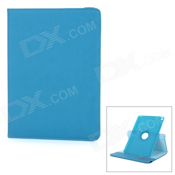 Protective TPU Case w/ Card Slot / 360 Degree Rotational Stand for IPAD AIR 2 - Blue protective tpu case w card slot 360 degree rotational stand for ipad air 2 blue