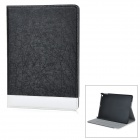 Luxurious Protective Flip-Open PU + ABS Case w/ Auto Sleep / Stand for IPAD AIR - Black + White