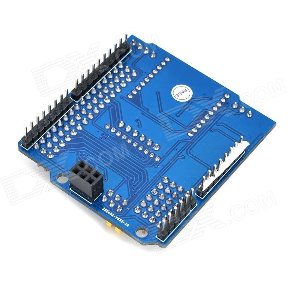 DIY Arduino IO Expansion Shield - Blue (Works with Official Arduino Boards)