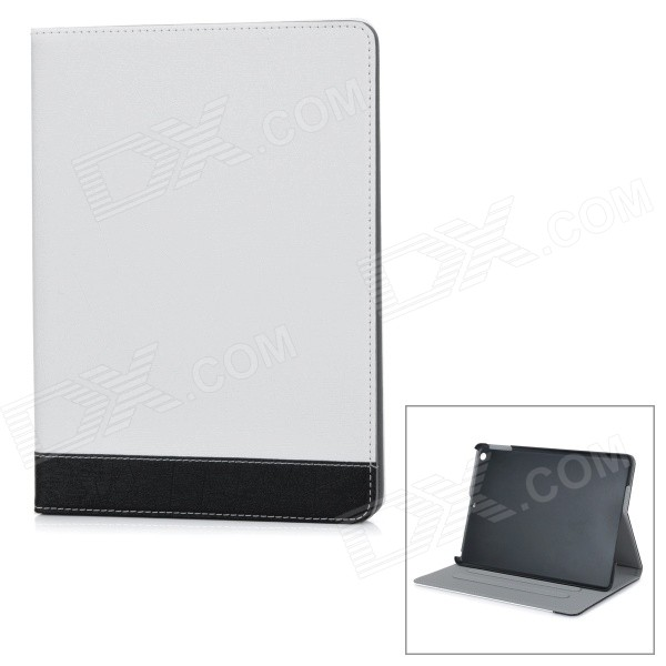 все цены на Luxurious Protective Flip-Open PU + ABS Case w/ Auto Sleep / Stand for IPAD AIR - White + Black онлайн