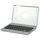 Bluetooth 59-Key Keyboard w/ Aluminum Case for IPAD MINI 3 - Silver