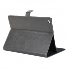 Stylish Protective PU + PC Smart Case w/ Stand for IPAD AIR 2 - Deep Grey