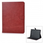 Stylish Protective PU + PC Smart Case w/ Stand for IPAD AIR 2 - Brown Red
