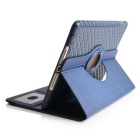 Protective TPU Case w/ Card Slot / 360 Degree Rotational Stand for IPAD AIR 2 - Deep Blue