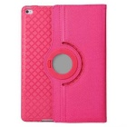 Protective TPU Case w/ Card Slot / 360 Degree Rotational Stand for IPAD AIR 2 - Deep Pink