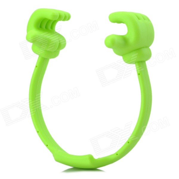 Universal Thumb-Up Style TPU Stand for IPAD / IPHONE / Samsung - Green