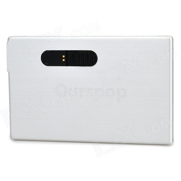Ourspop K-10 USB 2.0 Flash Drive - Blanco plateado (8 GB)