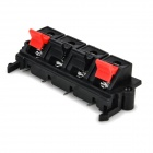 Plastic Speaker Wiring Terminal 4-Clamps / Clips - Black + Red (2 PCS)