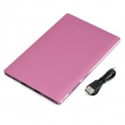 Universal 3.7V 8000mAh Dual USB Li-Polymer Battery Power Bank w / LED indicador - Rosa Roxo
