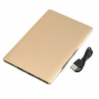 Universal 3.7V 8000mAh Dual USB Li-polymer Battery Power Bank w/ LED Indicator - Golden
