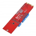 M.2(NGFF) to 2 USB 3.0 19-pin Converter Adapter Board Module for Desktop Computer - Red + Blue
