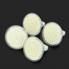 MR16 3W 250LM 2800K 60-SMD 3528 LED Warm White Lâmpadas Light - Branco + Prata (AC 110V / 4 PCS)