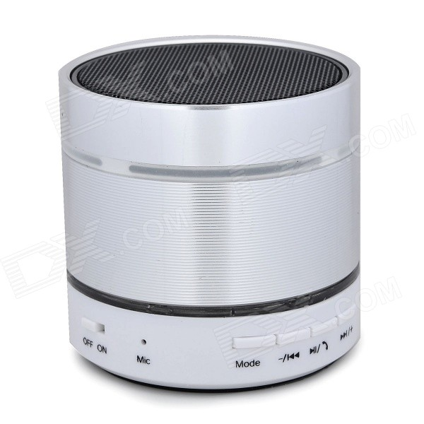 Bluetooth V2.1 Speaker w/ TF / FM / Mini USB / 3.5mm - White + Silvery Grey
