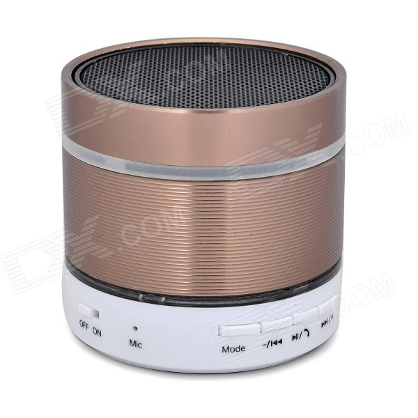 Bluetooth V2.1 Speaker w/ TF / FM / Mini USB / 3.5mm - White + Brown