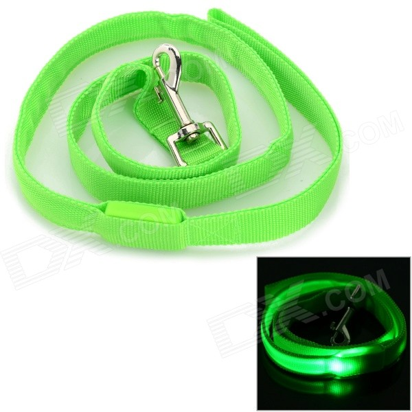 GD321 3-Mode Green Light LED Flashing Nylon Leash for Pet Cat / Dog - Green (2 x CR2016)