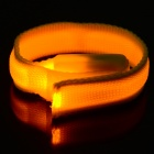 SD-65 Fashionable Velcro 3-Mode Yellow Light LED Sports Wrist Band - Yellow (2 x CR2016)