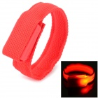 SD-65 Fashionable Velcro 3-Mode Red Light LED Sports Wrist Band - Red (2 x CR2016)