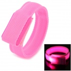SD-65 Fashionable Velcro 3-Mode Pink Light LED Sports Wrist Band - Pink (2 x CR2016)