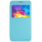 NILLKIN PU + PC Flip Open Case w/ Display Window for Samsung Galaxy Mega 2 - Blue
