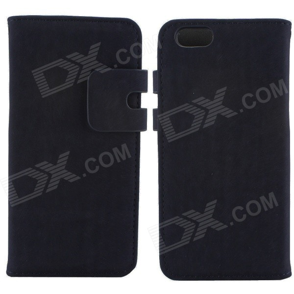 Wallet Design Protective PU + PC Flip Open Case w/ Stand / Card Slots for IPHONE 6 - Dark Blue vaio vpc eh2m1r w купить