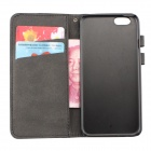 "Flip-open PU Leather Wallet Stand Design Case w/ Card Slot for 4.7"" IPHONE 6 - Black"