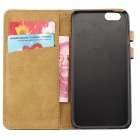 Flip-open PU Leather Wallet Stand Design Case w/ Card Slot for IPHONE 6 - Dark Brown