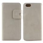 Flip-open PU Leather Wallet Stand Design Case w/ Card Slot for IPHONE 6 - Beige