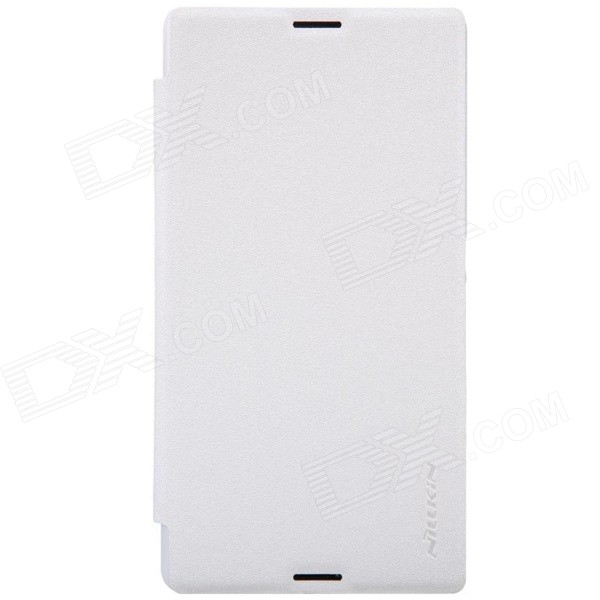 NILLKIN Protective PU Leather + PC Case Cover for Sony Xperia E3 - White