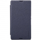 NILLKIN Protective PU Leather + PC Case Cover for Sony Xperia E3 - Black