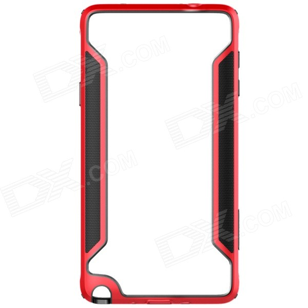 NILLKIN Protective PC + TPU Bumper Frame Case for Samsung Galaxy Note 4 N9100 - Red protective tpu   pc bumper frame for lg